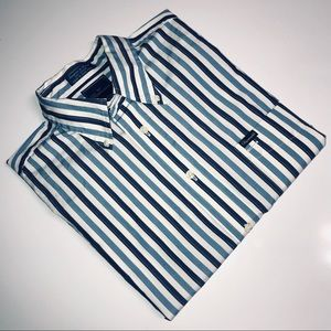 Faconnable Men short sleeve stripe button up